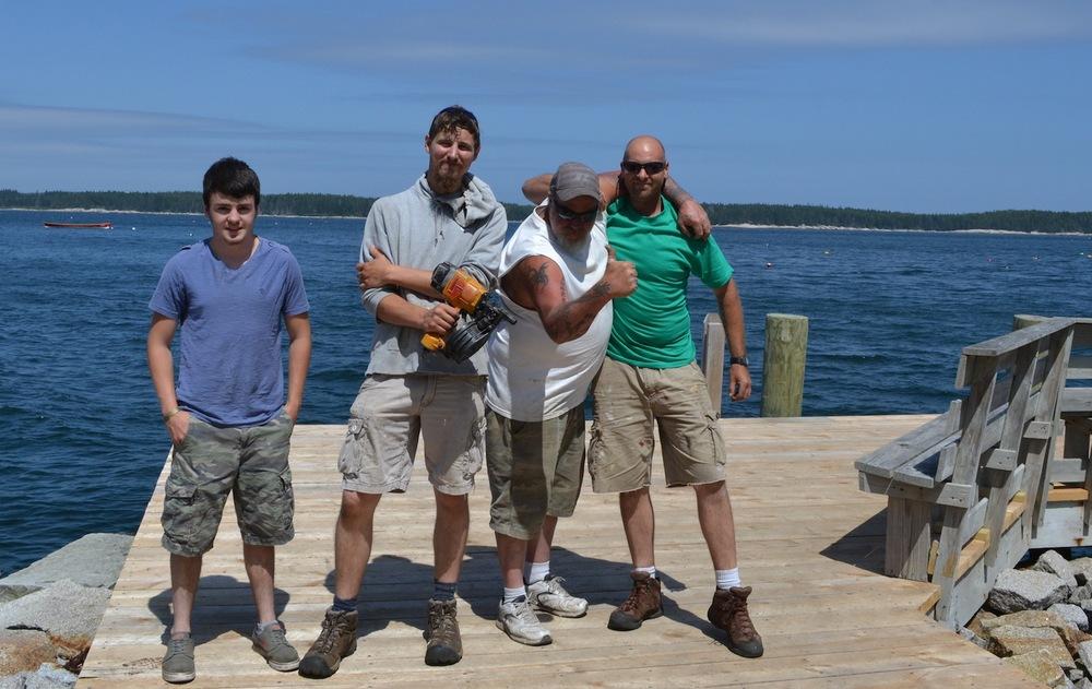 "Harbor Builder Crew L-R: Ben""BP"" Pomeroy, Ben ""Okie"" Oaks,Jim ""Jimbow"" Bernardo, Mark ""Putsky"" Bowden"