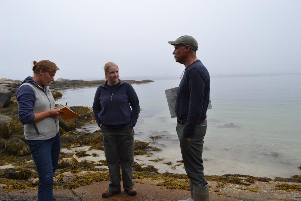 Determining future aquaculture sites on Hurricane Island