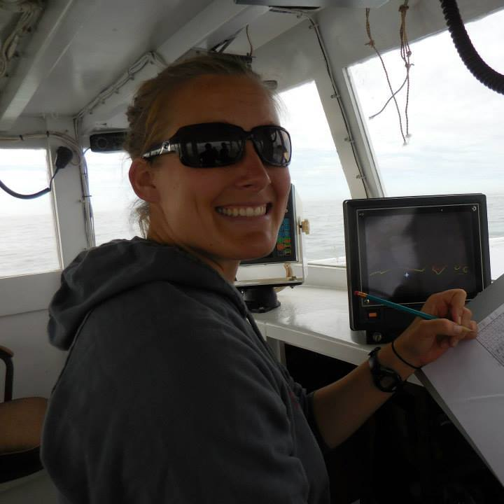 Hurricane Island Director of Science and Research Caitlin Cleaver.