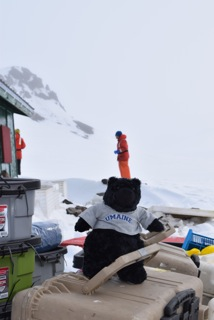 Loads of gear aboard the Gould (with a furry tribute to the University of Maine - Go Black Bears!)