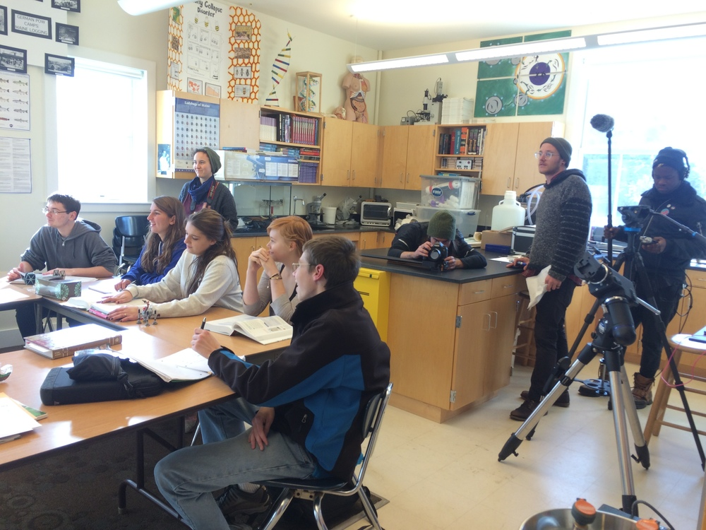 On location at the North Haven Community School, with many thanks to Amy Peterson and the NHCS high school