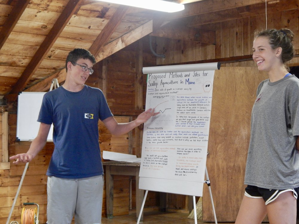 - SOS students field questions during their final presentations.