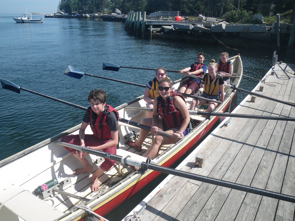 I told you Tuesday was fun! We went lobstering and rowing in the afternoon.