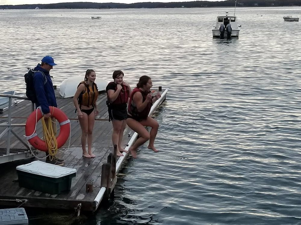 Chilly weather didn't get in the way of a refreshing ocean dip!