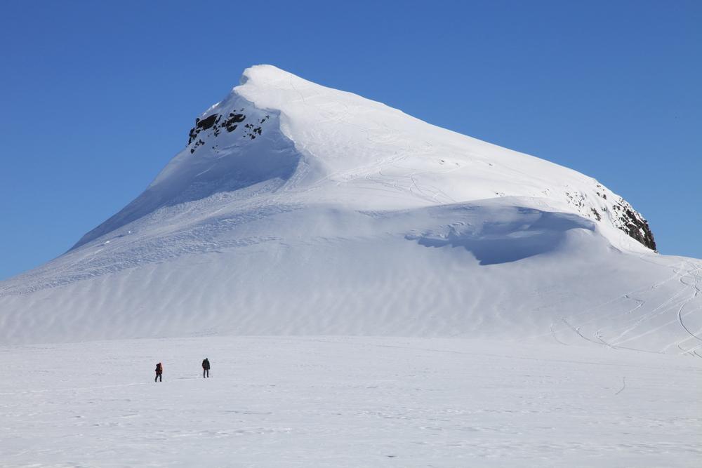 På ski mot Supphellenipa. Foto: Gaute Dvergsdal Bøyum.