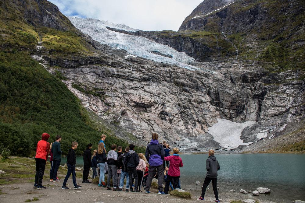 Ekskursjon ved Bøyabreen