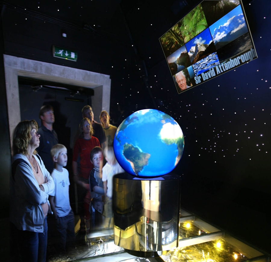 2007-Climate Exhibition David Attenborough Film-Norsk Bremuseum.jpg