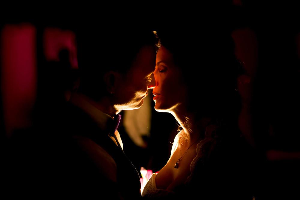 Hochzeitsfoto nachts