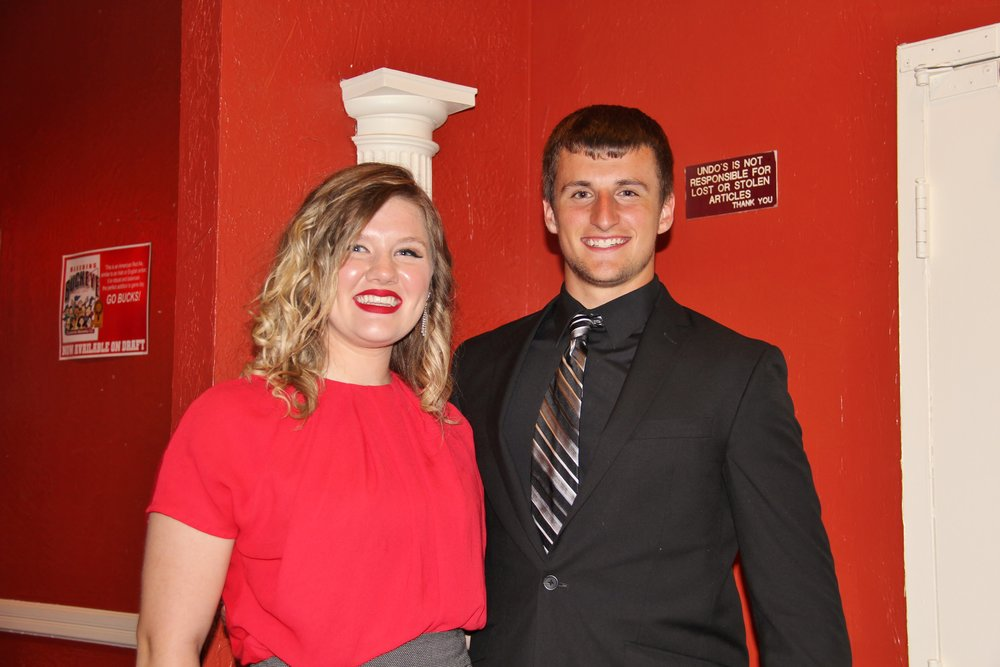Pictured above left to right are winners Sarah McAninch and jordan mehlman