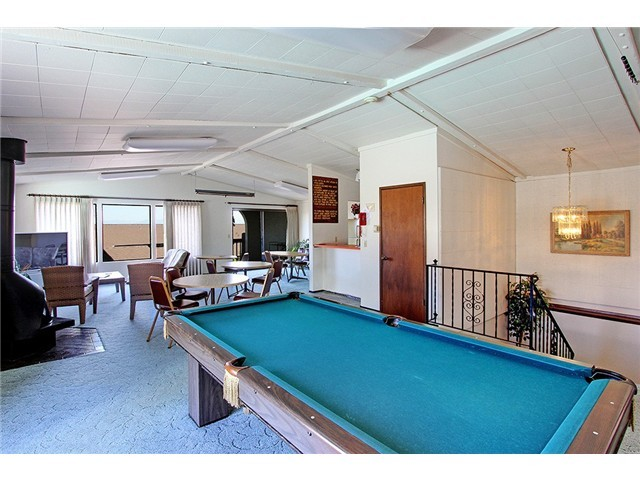 Community Pool table available for entertaining.