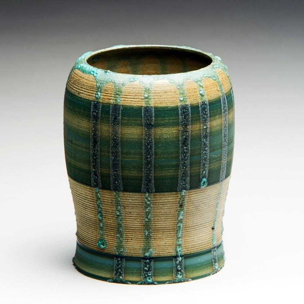 """""""Effusion"""", Stoneware Vase, 9.5cm Tall x 8.25cm Diameter (3.75"""" x 3.25"""")"""