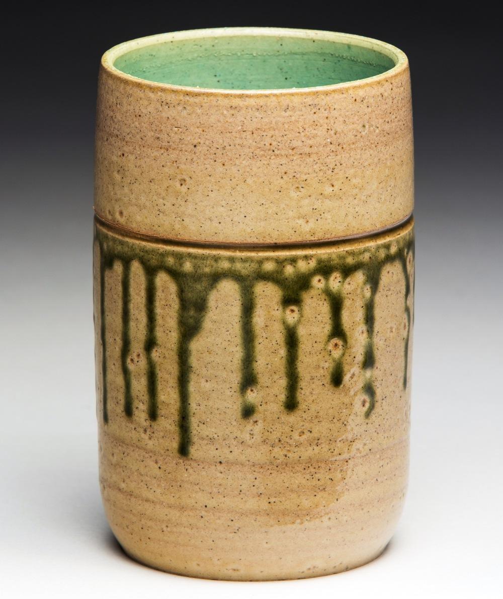 """Kelmscott"", Stoneware Vase, 13.25cm Tall x 9cm Diameter (5.25"" x 3.5"")"