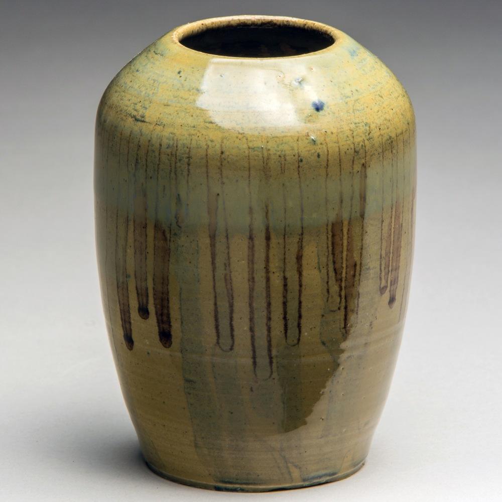 """Grassy Knoll"", Stoneware Vase, 10cm Tall x 8.25cm Diameter (4"" x 3.25"")"