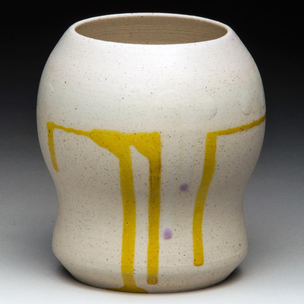 """Elizabeth Taylor As Cleopatra"", Stoneware Vase, 12cm Tall x 10.75cm Diameter (4.75"" x 4.25"")"
