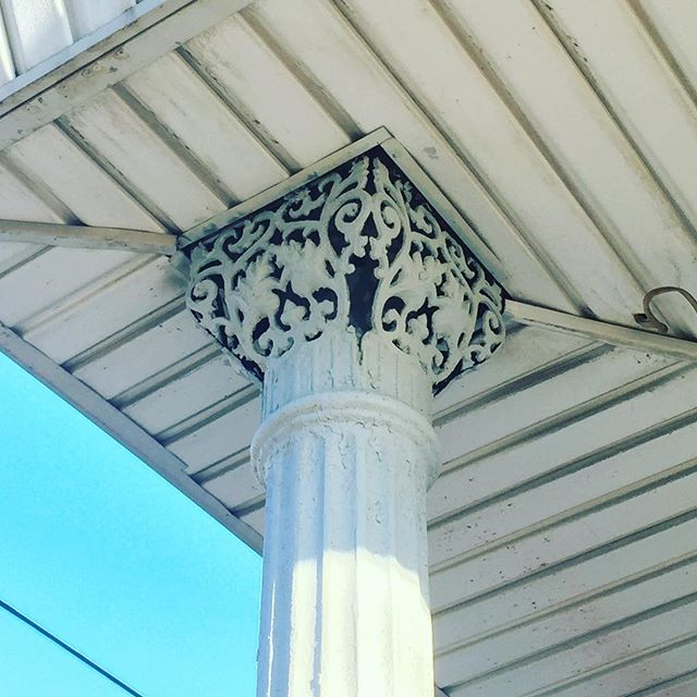 Amazing cast iron column capital in South Philly.