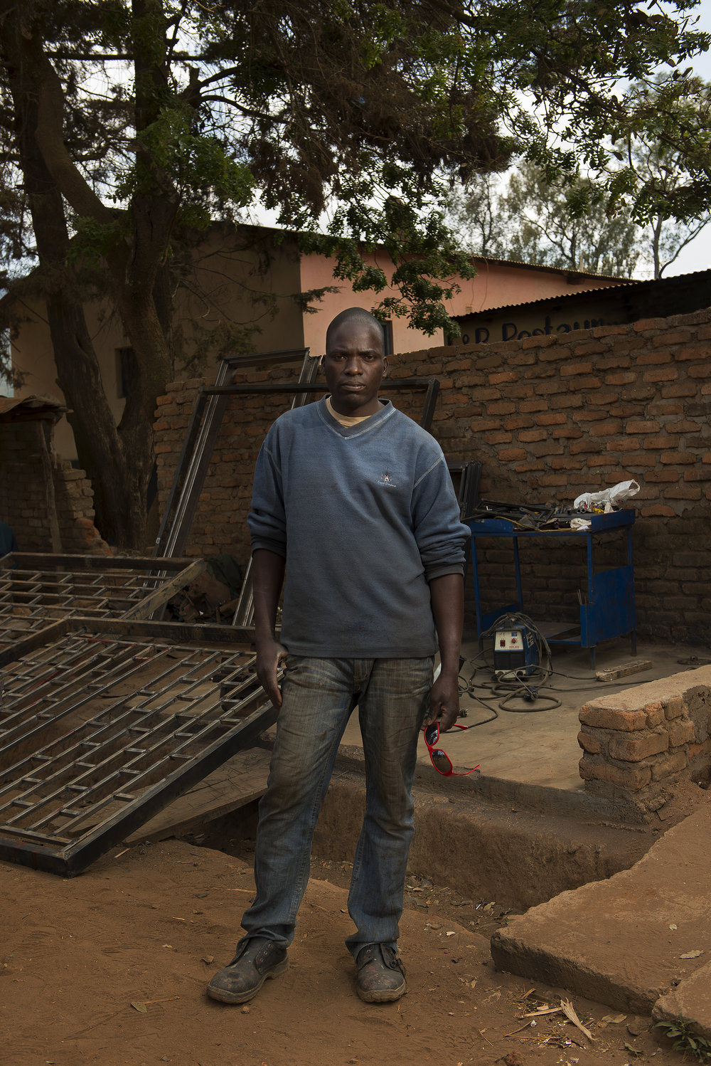 Reuben Chinzery, Welding shop owner Malawi