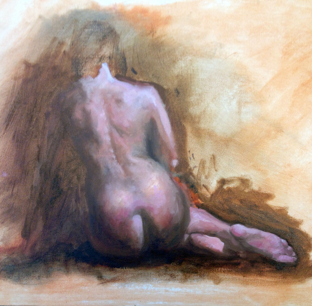 Figure in Oil by Lindsey Oberg