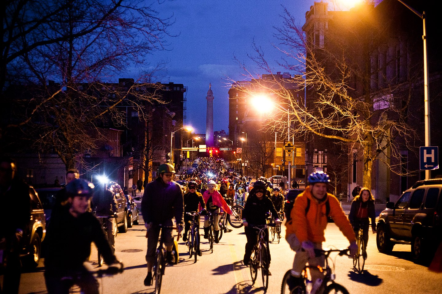 March Baltimore Bike Party. Photo by Brian O'Doherty