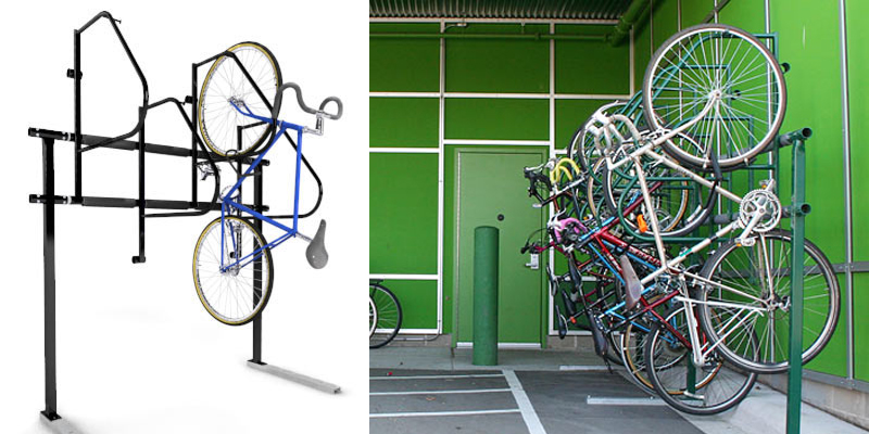 Examples of Properly Parked Bikes