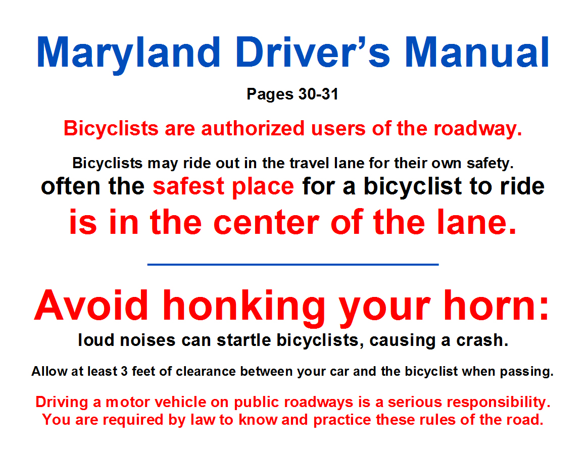 Maryland Driver's Manual