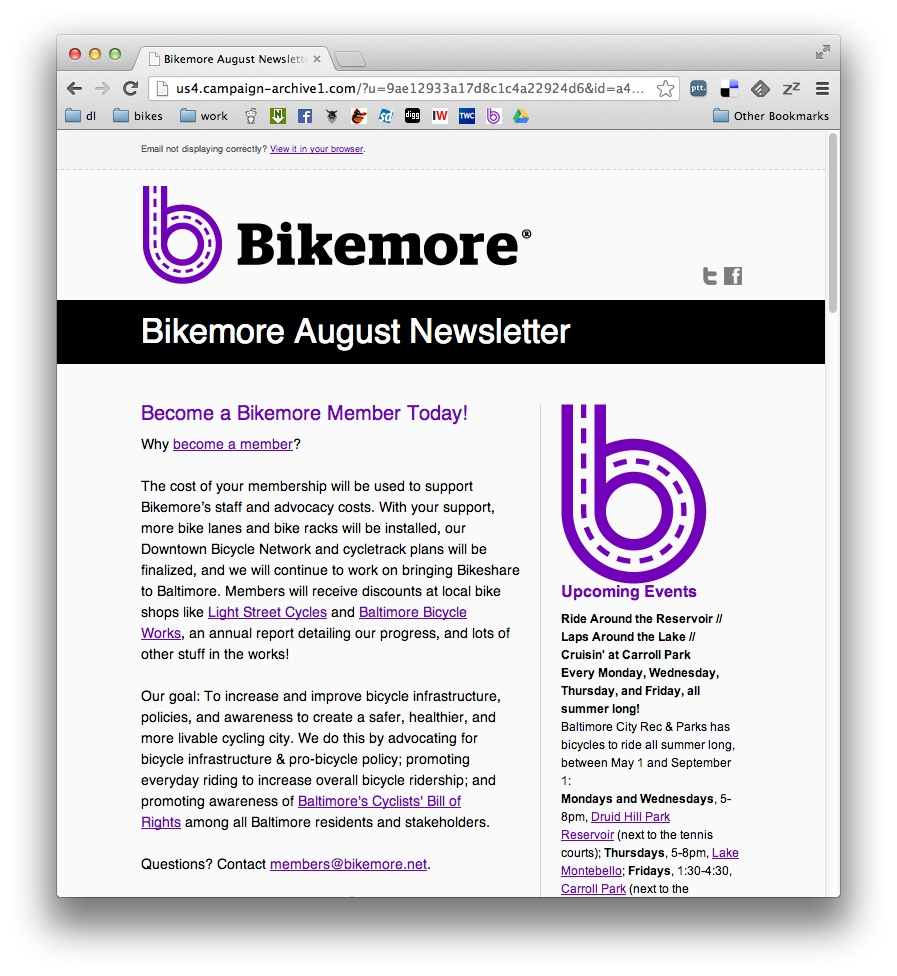 Bikemore August Newsletter