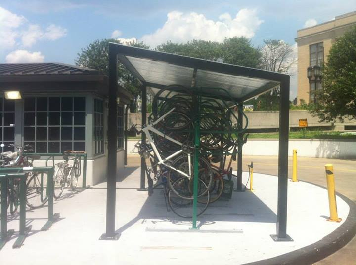 Bike Canopy at Penn Station in Baltimore