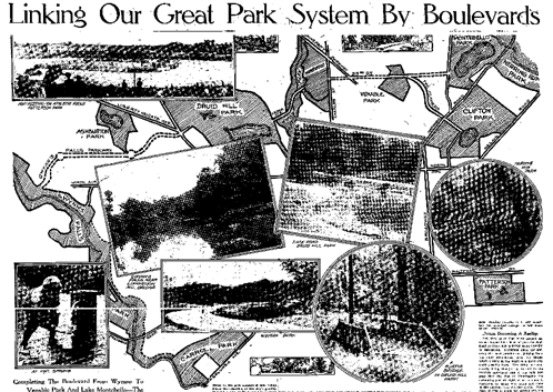 The revised Olmsted vision in  The Baltimore Sun,  July 26, 1914