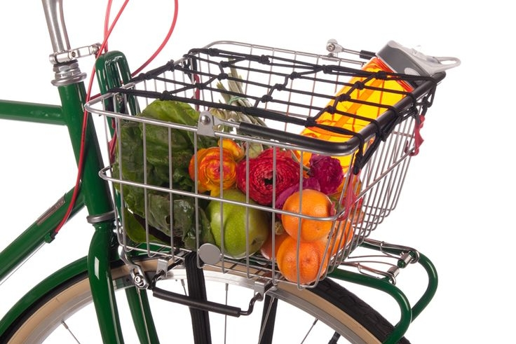 You can use front baskets with or without a front rack, depending on what kind of basket it is, and they're perfect for carrying small loads.