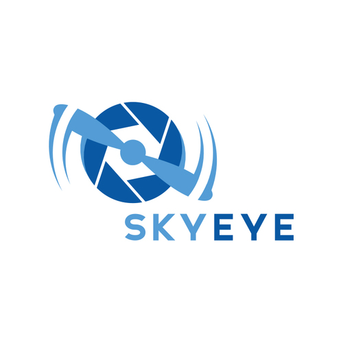 Created This Clean Logo Mark For Sky Eye A Drone Aerial Photography Business By Incorporating Elements From Camera Shutter And Propeller