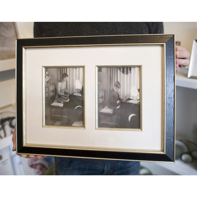 Look What We Framed... Outlining each mat window with a silver fillet added the perfect highlight to this customer's project. We have the largest selection of fillet and liner options for all your custom framing needs. #loneleafgallery #customframing #piano