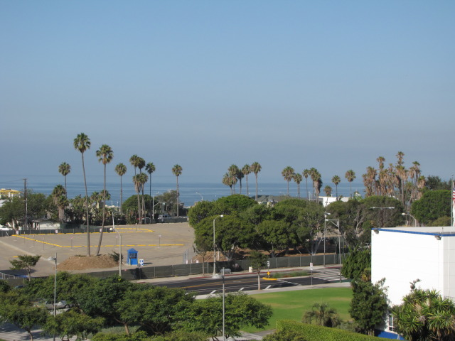 Project site, as seen looking west from roof of Civic Center Parking Structure (2010)