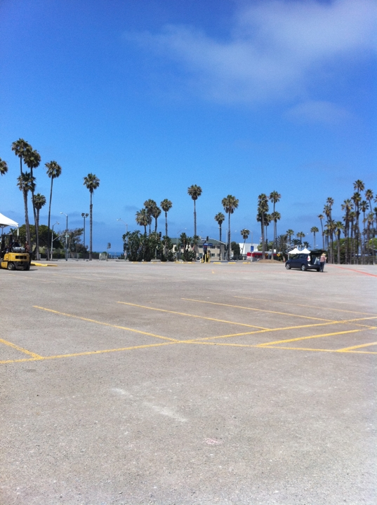 On the project site, looking northwest toward Santa Monica Pier