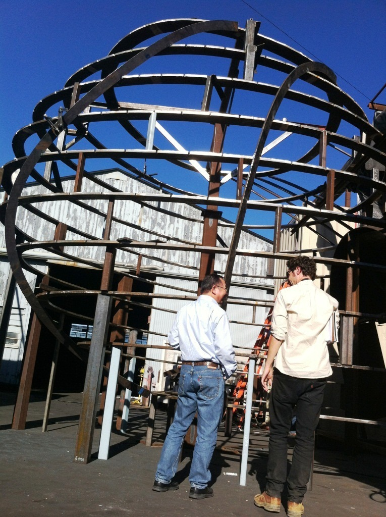 Checking out fabrication of the overlook structures