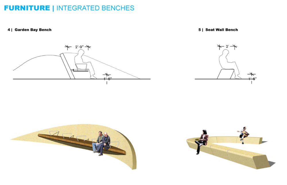Integrated seating will maximize use of available space