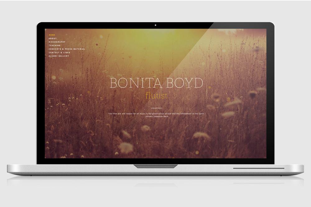Home page design, BonitaBoyd.com