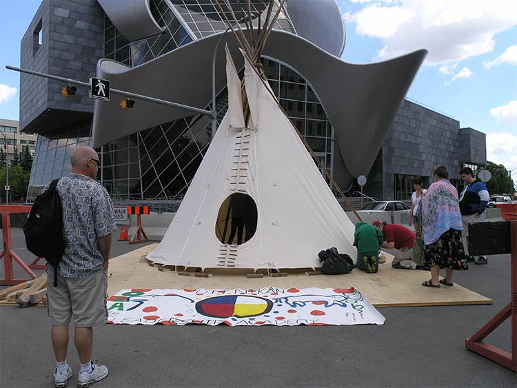 Site 1: Alberta Aboriginal Arts Tipi (AAA Tipi)