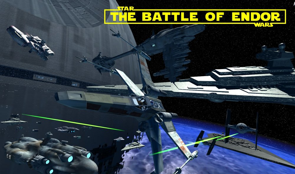 Battle of Endor was created by James Clement you can download it  here
