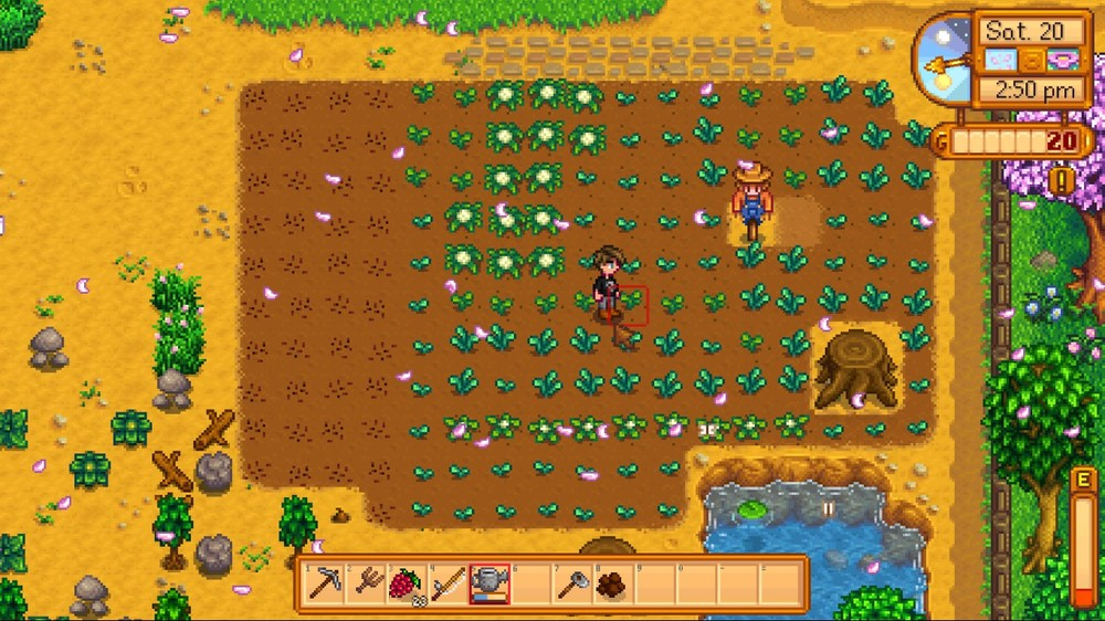I then planted some crops that made me want to hurl myself off a cliff every morning when I had to water them.
