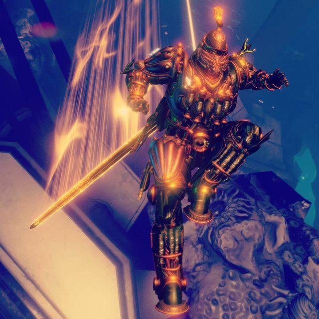 #warframe Vauban, the bronze knight. . . . . . . . #videogames #gaming #podcast @playwarframe please make this the default skin 😎