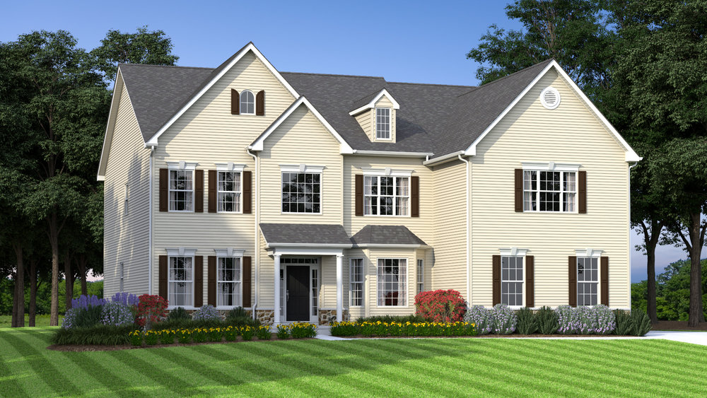 The Philadelphian  4,400 sf / 4 br / 3.5 ba / 3 car garage Starting at $429,990