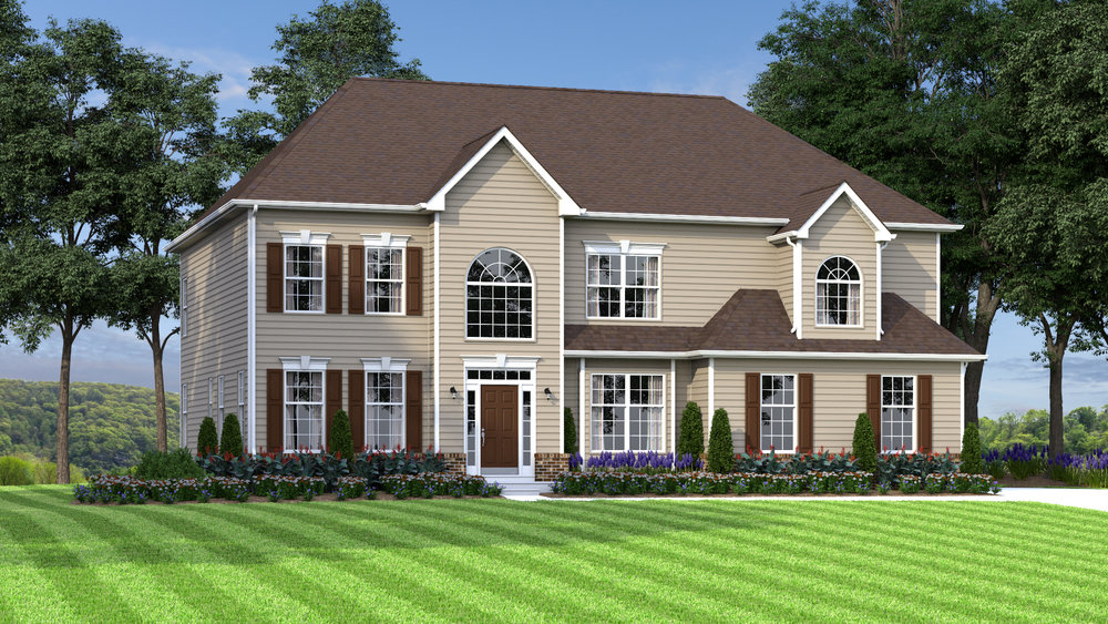 The Gladwyne 3,500 sf / 4 br / 2.5 ba / 2 car garage Starting at $338,990