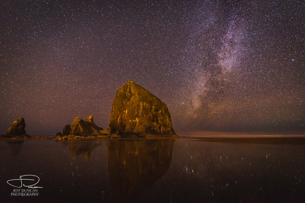 Cannon Beach Astro with reflection.jpg
