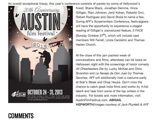 ZINK Magazine Website, published October 22, 2013