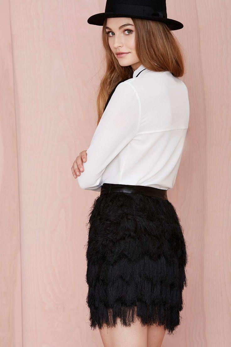 Joa Fringe Skirt