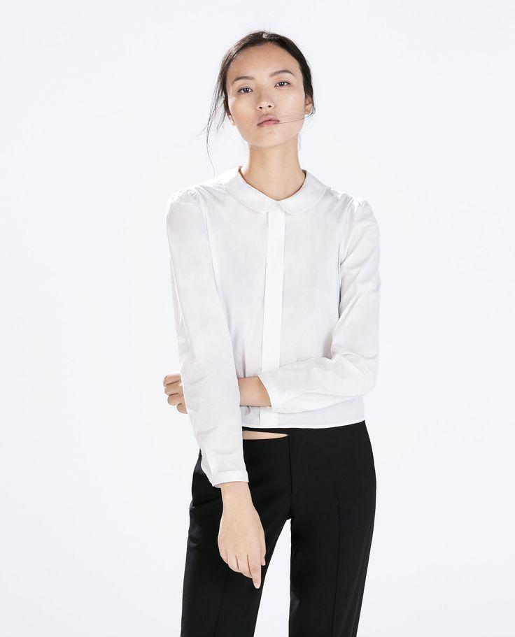 Zara Peter Pan Collar Blouse
