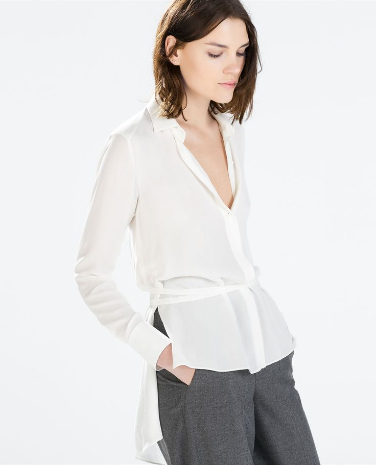 Zara Studio Wrap Blouse