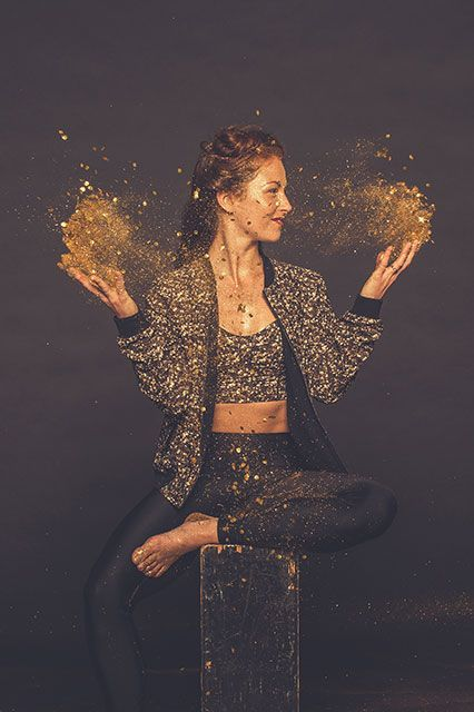 an image from Lululemon's Holiday campaign (glitter color currently sold out)