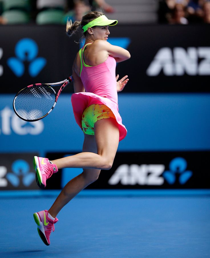 Eugenie Bouchard at the 2015 Australian Open. Image via NYTimes.com.