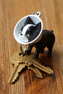 Boston Terrier keychain // Forever21
