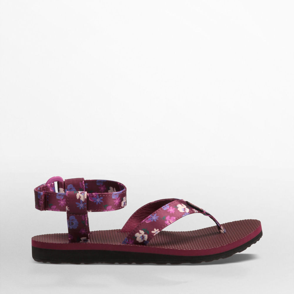 Original Sandal in Zinfandel Satin $36